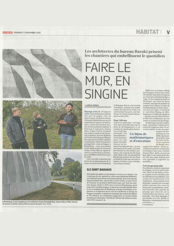 BARAKI_La liberté article
